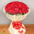 Bunch of 50 Red Roses Arrangement