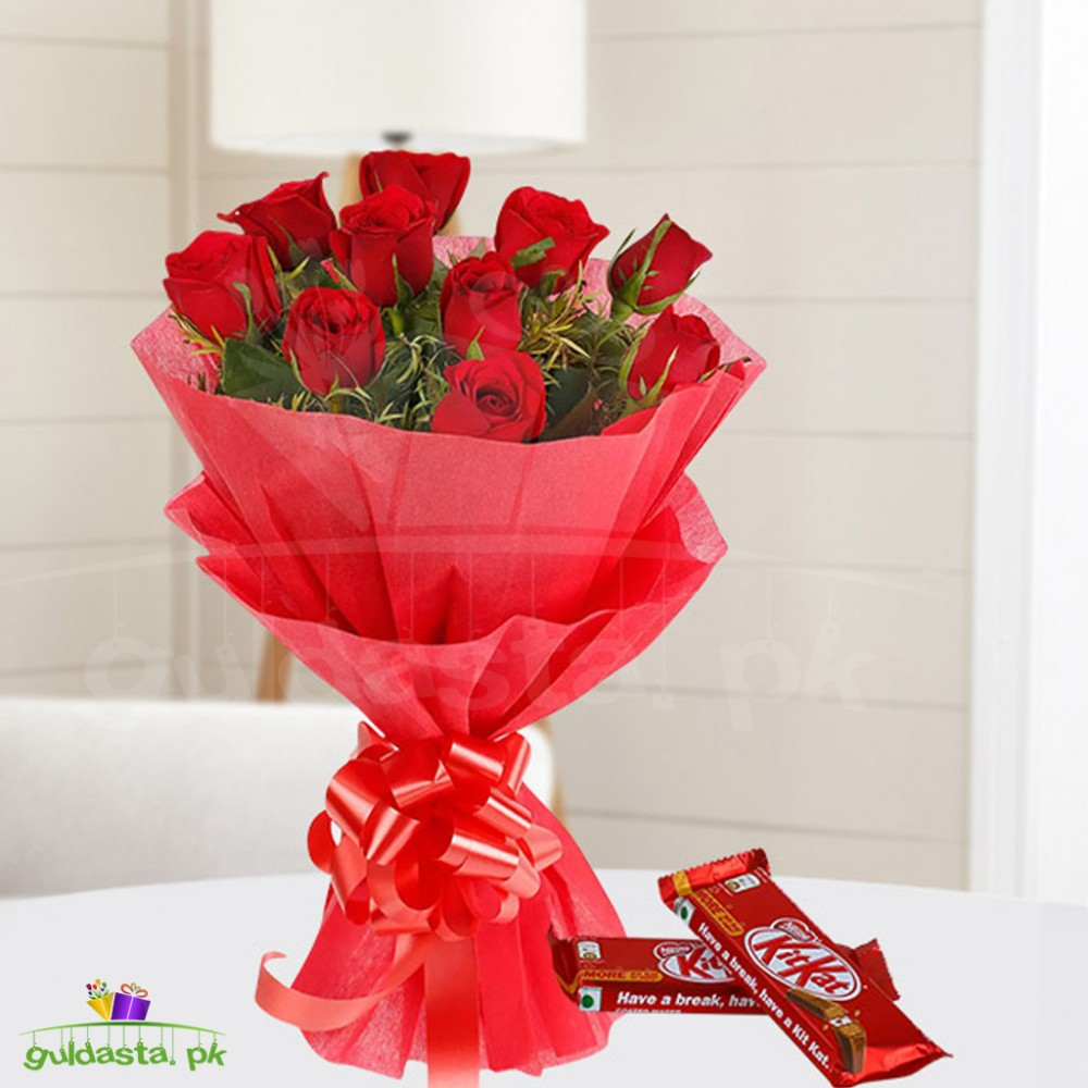 Love Sweets - Red Roses N Chocolates