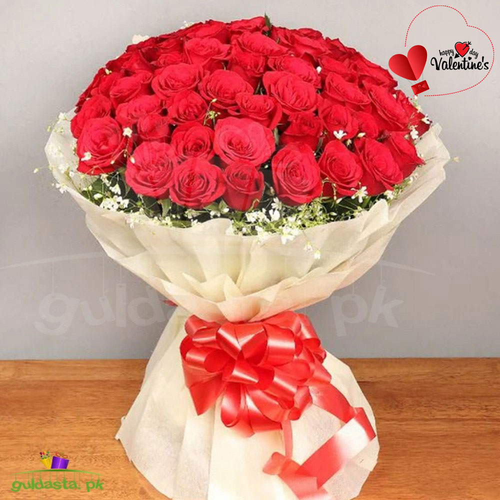 Valentine's Day Red Roses Arrangement